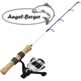Angel Berger Eis und Bootsangelset mit Rolle -