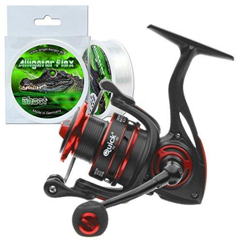 DAM Quick FZ FD Spinrolle Angelrolle + gratis Alligator Flex Schnur (200) -