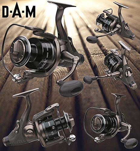 DAM Quick NBG 555 FS - Freilaufrolle, Karpfenrolle + gratis Shimano Ultegra Schnur -