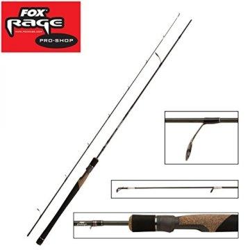 Fox Rage Ultron Ultralight 230cm 1-8g, Spinnrute, Rute zum Angeln mit Wobbler und Gummifisch, Rute zum Streetfishing, Spinnruten, Forelle, Barsch, Döbel, Ultraleicht Rute -
