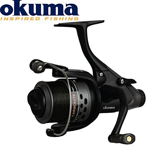 Okuma Carbonite XP Baitfeeder 140 Freilaufrolle -160m 0,35mm , Angelrolle mit Freilauf, Rollen mit Freilauffunktion, Angelrollen zum Karpfenangeln, Zanderangeln, Aalangeln, Hechtangeln, Forellenangeln -
