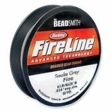 6LB Fireline Smoke Pre Waxed Beading Thread .006In 0.15mm Dia 125 Yard -
