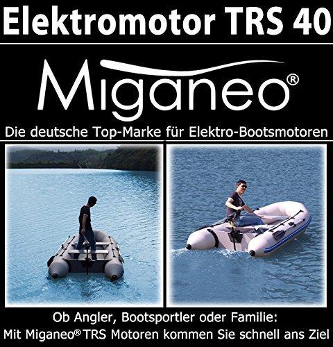 Miganeo Aussenborder Elektromotor 40 lbs -1294kg Schubkraft 408 Watt mit LED-Batterieanzeige -12 Volt 18,1kp salzwassertauglich ... -