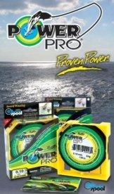 Power Pro Super Line 275m 0,13mm 8kg, Gelb, geflochtene Angelschnur -