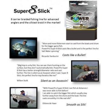 PowerPro Super 8 Slick 275m 0,19mm 15kg gelb - geflochtene Angelschnur -