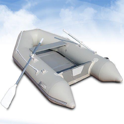 Schlauchboot Motorboot Set inkl. Tragetasche und Fußluftpumpe, ca. 270x152cm -
