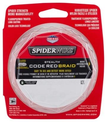 Spiderwire STEALTH CODE RED 0,38mm 36,22Kg 270m geflochtene Schnur -