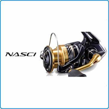 Shimano Nasci C3000 HG FB, Spinning Angelrolle mit Frontbremse, NASC3000HGFB - 3
