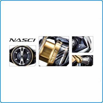 Shimano Nasci C3000 HG FB, Spinning Angelrolle mit Frontbremse, NASC3000HGFB - 6