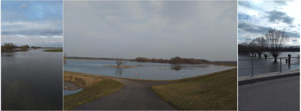 Fluss Hochwasser
